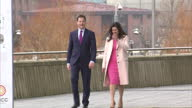 Exterior shots of Deputy Prime Minister and Liberal Democrat leader Nick Clegg and his wife Miriam Gonzalez Durantez arriving at the Liberal Democrat...