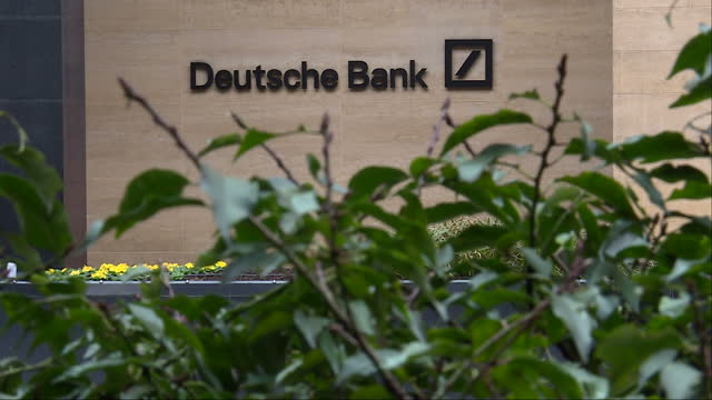 Exterior shots of Deutsche Bank on January 31 2017 in London England