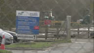Exterior shots of diggers at Milton landfill site where a search for missing RAF serviceman Corrie McKeague is taking place on January 22 2017 in...