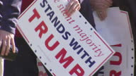 Exterior shots of Donald Trump supporters arriving at a rally at Madison Central High School>> on March 07 2016 in Madison Mississippi