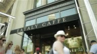 Exterior shots of Eataly Caffee as patrons walk in and out of the restaurant in the Flat Iron District of New York New York shot on June 17th 2015...