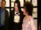Exterior shots of Elizabeth Taylor and Michael Jackson arrive at charity concert and posing for photos Elizabeth Taylor Michael Jackson Concert...