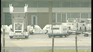 Exterior shots of engineers working on Air France planes on the airfield on July 25 2000 in Roissy Charles de Gaulle Airport Paris France
