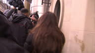 Exterior shots of footballer Adam Johnson arriving at Bradford Crown court with partner Stacey Flounders for underage sex case trial on March 01 2016...