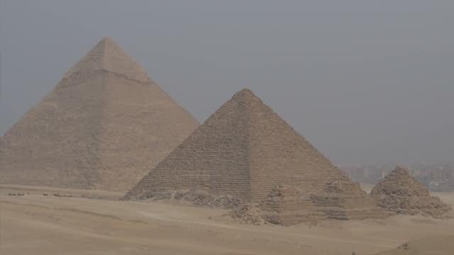 Exterior shots of Giza Pyramids Giza Necropolis Giza Plateau on November 11 2014 in Cairo Egypt
