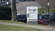 Exterior shots of 'Google' HQ Head Quarters building in San Francisco and ground signs on in San Francisco California