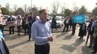 Exterior shots of Grant Schapps and Conservative candidate for Thanet Craig Mackinlay thanking Conservative supporters whilst campaigning in Thanet...