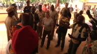 Exterior shots of International Development Secretary Justine Greening visiting an Ebola treatment centre in Port Loko to mark the opening of the...