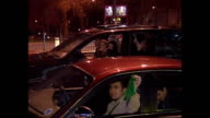 Exterior shots of Iraqi expats celebrating on the streets of London after the capture of Saddam Hussein on December 14 2003 in London United Kingdom