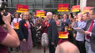 Exterior shots of Jeremy Corbyn Labour leader meeting crowds of Labour supporters in Sheffield on May 06 2016 in Sheffield England