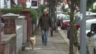 Exterior shots of Ken Livingstone walking his dog on October 16 2016 in London England