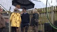 Exterior shots of Liberal Democrat leader Nick Clegg visiting a nature reserve in Solihull with Lord Burt the Lib Dem candidate for Solihull on March...