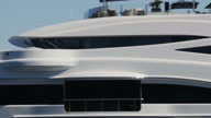 Exterior shots of Lionheart Sir Philip Green's yacht sailing into the harbour on August 17 2016 inIthica Greece