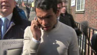 Exterior shots of Manchester City forward Carlos Tevez walking from court after sentencing and departing in car Carlos Tevez leaves Macclesfield...