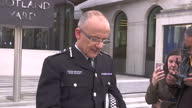Exterior shots of Mark Rowley the national lead for Counter Terrorism Policing and the Acting Deputy Commissioner of the Metropolitan Police giving a...