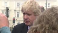 Exterior shots of Mayor of London and member of the Conservative Party Boris Johnson visiting HM Coastguard Burnham on Sea Coastguard Station on...