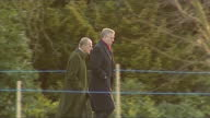 Exterior shots of members of the Royal Family arriving at church on Christmas Day at Sandringham including Princess Anne Princesses Beatrice and...