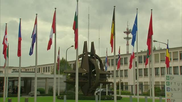 Exterior shots of NATO Headquarters in Brussels>> on October 08 2015 in Brussels Belgium