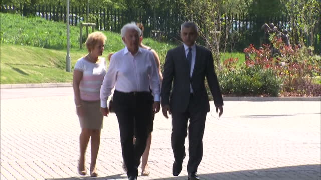 Exterior shots of new London Mayor Sadiq Khan arriving at the Holocaust Remembrance Day Yom HaShoah event on May 08 2016 in London England