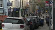 Exterior shots of Newport street scenes people walking in streets on November 20 2014 in Newport Wales