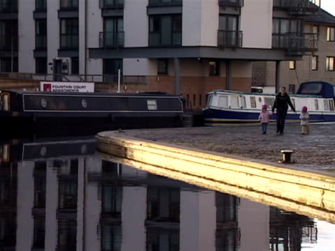 Exterior shots of offices to let in the Fountain Bridge area of Edinburgh The offices overlook Union Canal A single mother walks along the canal with...