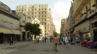 Exterior shots of people walking around the centre of Cairo going about their daily lives on November 4 2014 in Cairo Egypt