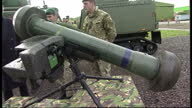 Exterior shots of Philip Hammond being shown around RM Condor on February 24 2014 in Arbroath Scotland
