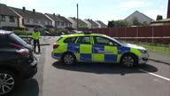 Exterior shots of police and forensic officers at the scene of the apparent taser death of the former Aston Villa footballer Dalian Atkinson on...