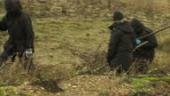 Exterior shots of Police searching Snettisham beach for evidence in relation to suspicious death of Latvian Alisa Dmitrijeva Sky News on January 26...