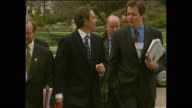 Exterior shots of Prime Minister Tony Blair walking through St James Park with Labour MPs and advisors including Director of Communications Alastair...