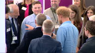 Exterior shots of Prince Harry meeting officials in the Sir Ian Wood building on his visit to the Streetsport Initiative Robert Gordon University on...