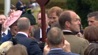 Exterior shots of Prince Harry mingling with guests at a garden party at Hillsborough Castle hosted by the Secretary of State for Northern Ireland...