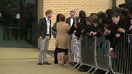 Exterior shots of Prince Harry shaking hands with staff and pupils after visiting the Yes You Can project at Hamilton Community College on March 21...