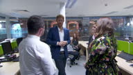 Exterior shots of Prince Harry visiting the NHS Manchester Resilience Hub on 4th September 2017 Manchester England