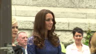 Exterior shots of Prince William Catherine Duke Duchess of Cambridge arriving watching a welcome ceremony on July 3 2011 in Quebec Canada