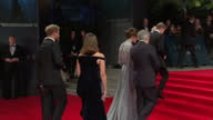 Exterior shots of Prince William Duke of Cambridge Catherine Duchess of Cambridge Prince Harry arriving and meeting Barbara Broccoli Michael G Wilson...