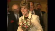 Exterior shots of Princess Diana officially opening the Barnardos centre on November 19 1991 in Armagh Northern Ireland