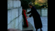 Exterior shots of Princess Diana Princess of Wales laying wreath at the Yokohama War Cemetery a commonwealth war cemetary taking part in memorial...