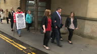 Exterior shots of Rebecca Williams girlfriend of Cameron Logan departing Glasgow High Court after the conviction of Blair Logan for the murder of his...