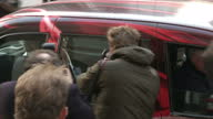 Exterior shots of Rebekah Brooks and Charlie Brooks departing from the Old Bailey>> on February 20 2014 in London England