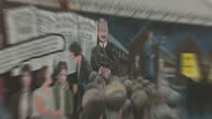 Exterior shots of Republican murals on the 'International Wall' at the top of Falls Road in west Belfast>> on July 25 2017 in Belfast Northern Ireland