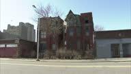 Exterior shots of run down central Detroit area Detroit Michigan stockshots on February 27 2012 in Detroit Michigan