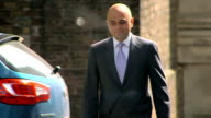 exterior shots of Sajid Javid MP Secretary of State for Business Innovation and Skills arriving at Number 10 Downing Street on May 11 2015 in Downing...