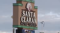 Exterior shots of Santa Claran Casino and Hotel on Indian Reservation