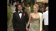 Exterior shots of Sharon Stone arriving with husband Phil Bronstein at the AMFAR Gala held during the Cannes Film Festival on May 21 1998 in France