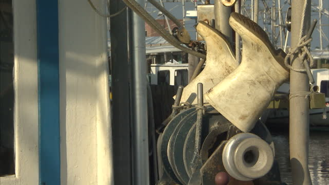 Exterior shots of shrimp fishing boats in the Marina in BurasTriumph on August 1 2010 in Louisiana United States