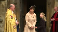 Exterior shots of Sophie Countess of Wessex arriving for Easter service at St Geroge's Chapel Windsor on April 20 2014 in Windsor England