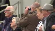 Exterior shots of spectators watching the races at Beverley Racecourse>> on June 23 2015 in Beverley United Kingdom