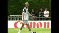 Exterior shots of Steve McManaman David Beckham Gary Neville Paul Merson and Nigel Martyn during an England Football training session at the France...
