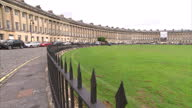 Exterior shots of terraced housing in the famous landmark the Royal Crescent in the City of Bath General views of Bath tourist landmarks and city...